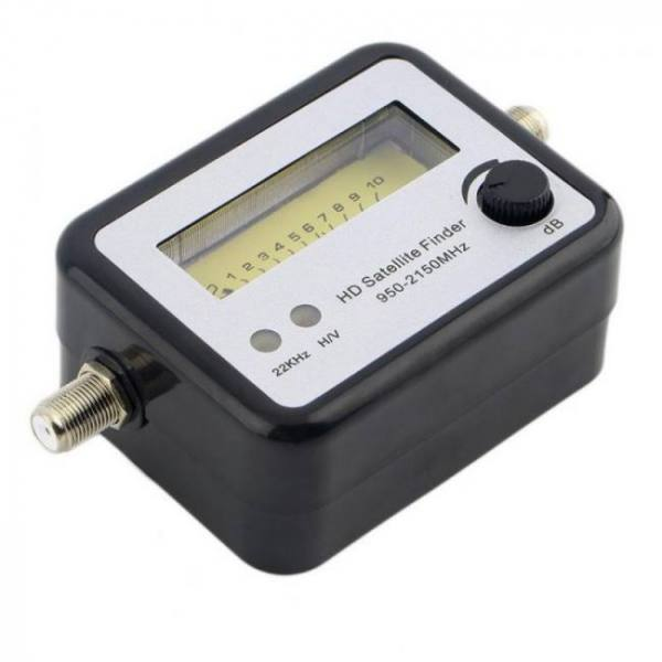 Digital satfinder with lcd display