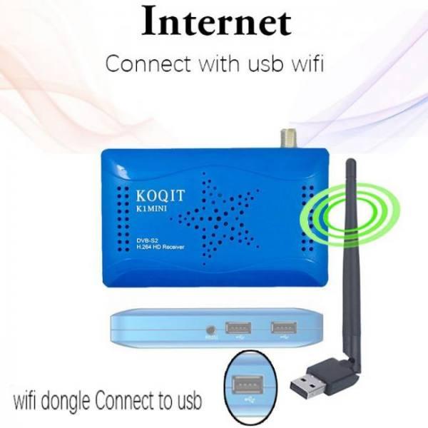 Koqit mini dvb s2 internet receive