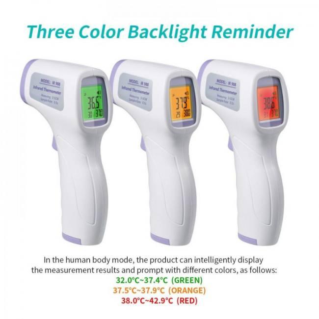 Noncontact termometro infrared ir