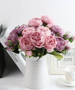1 bundle silk peony bouquet home d
