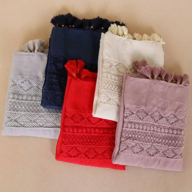 Ladies fashion plain lace floral p