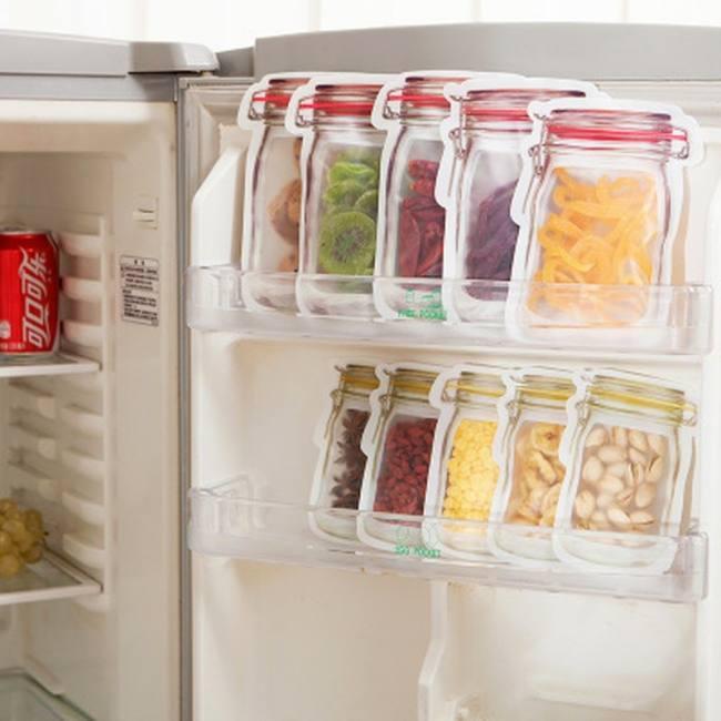 10pcs reusable mason jar bottles b