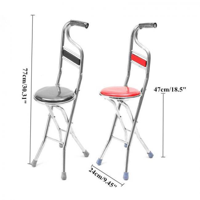 Folding walking cane rest stainles