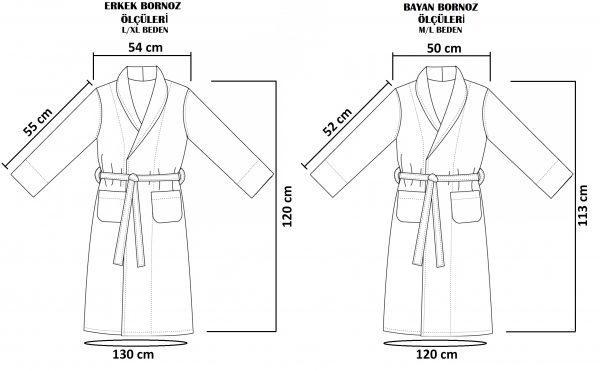Microcotton bathrobe family set 6