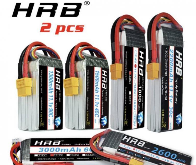 2 units hrb rc lipo battery 3s 11.