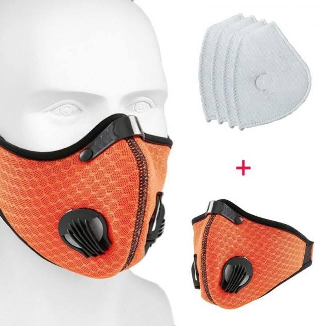 Men Women Mouth Muffle Cotton Colorful Riding Anti-Dust Cycle Bike Ski Face Mask