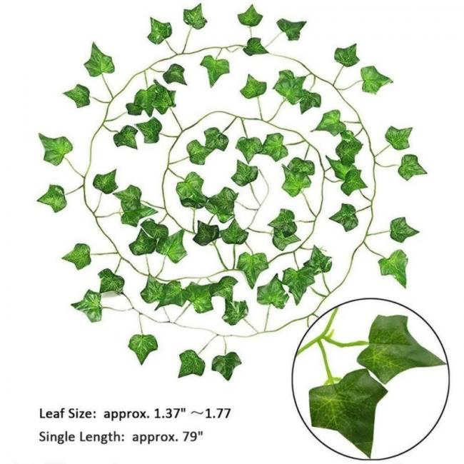 12pcs Artificial Plants Led Leaf Garland Silk Rattan Leaf Vine Hanging For Home Decor Sadoun Sales International