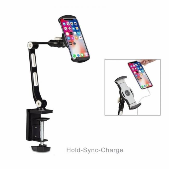 Adjustable tablet holder for 6 to