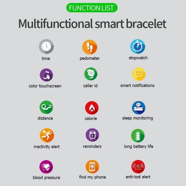 F8 smart watch men women smart clo