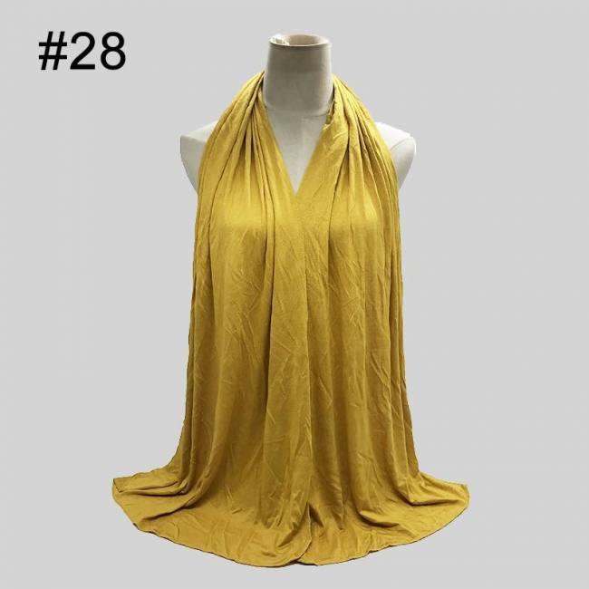 Soild color cotton scarf hijab for