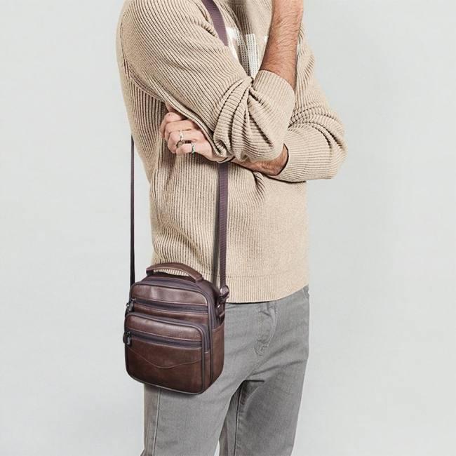 Casual men handbag brief shoulder