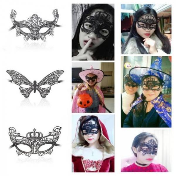 Sexy lace eye cutout mask hallowee