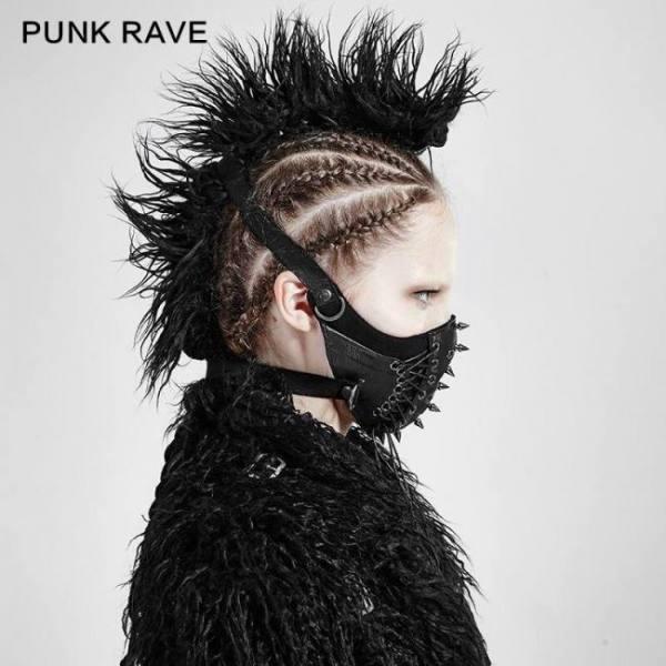 Punk rave women punk mask rock riv