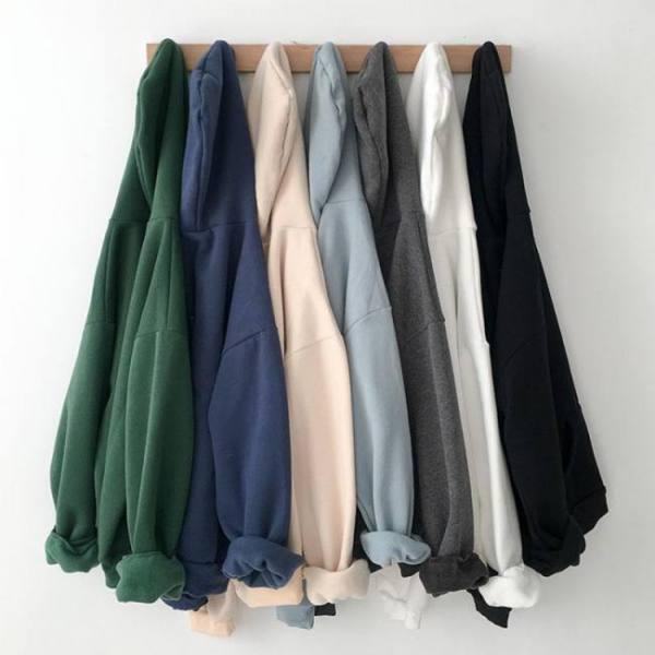 Velvet thickened hooded sweatshirt