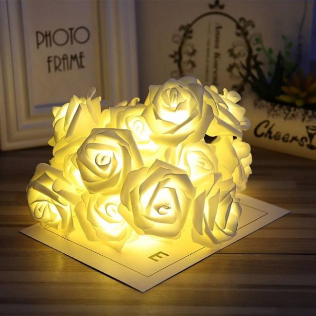 Hot sale battery operated led rose
