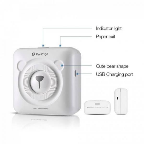 Portable bluetooth photo picture p