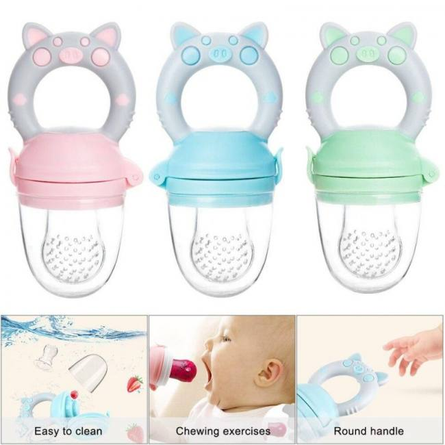 Silicone baby pacifier feeder cart
