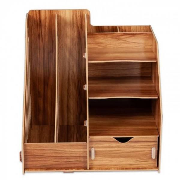 Diy wooden magazine desk organizer