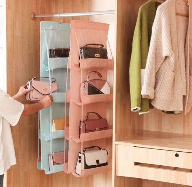 6/8 pockets wardrobe hanging handb