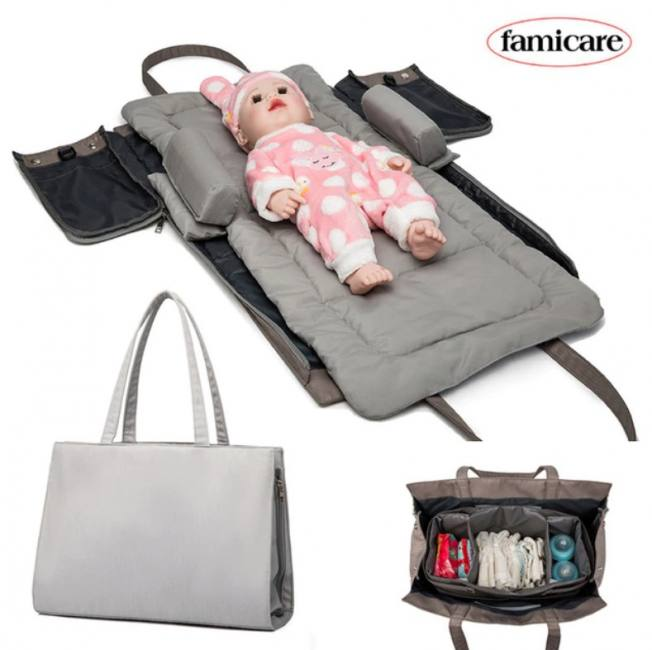 Baby portable bed diaper bag bed c