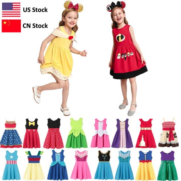 Girls costumes summer dress disney