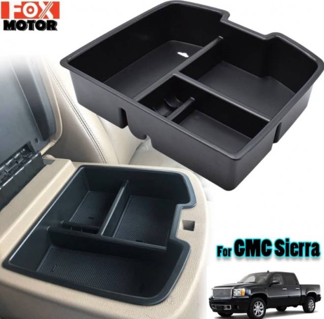 Center console organizer armrest s