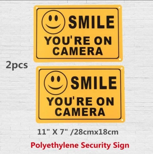 2pcs smile you're on camera