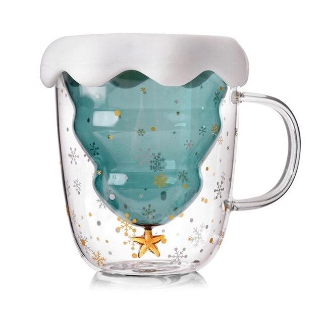 Creative christmas double glass cu