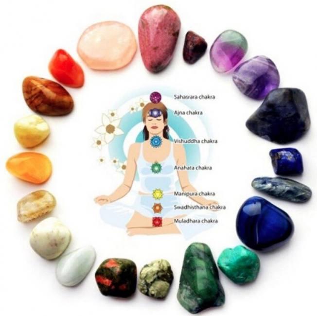 Natural 7 colors/set yoga energy &