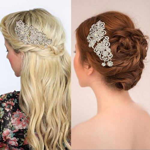 Bridal hair clip crystal  wedding