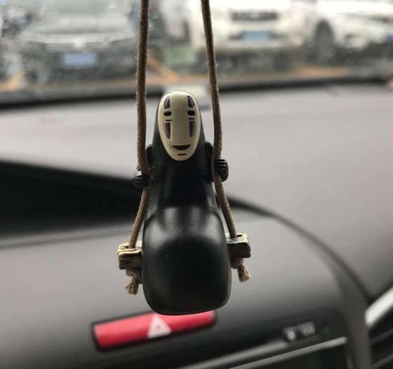 Cute anime car ornaments pendant 5x3cm