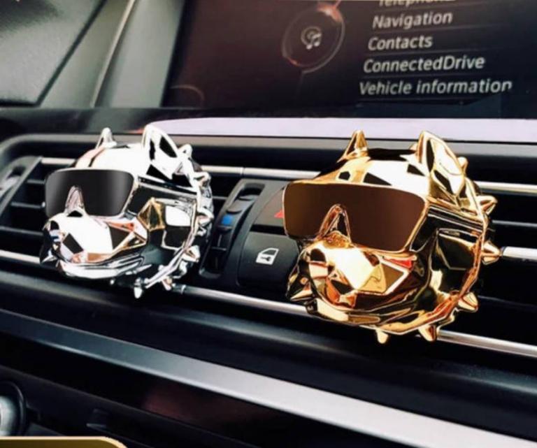 Funky  bulldog car air freshener 5