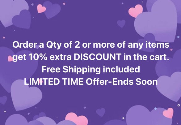 Limited time offer end soon – save extra 10% discount when you order 2 or more items