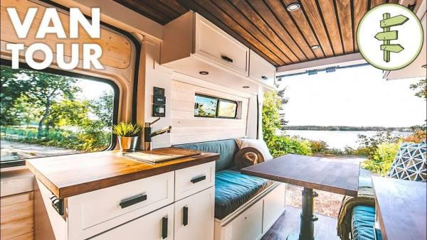 Stunning modern camper van conversion   van life tour