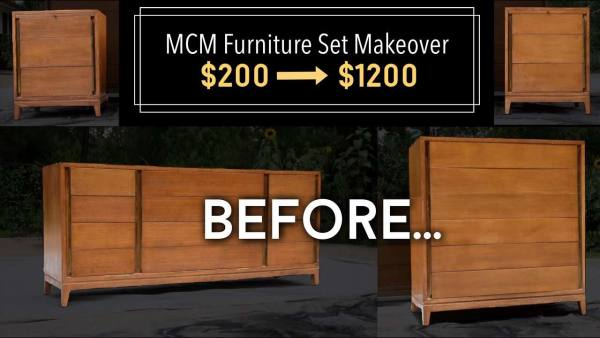 Furniture makeover // flipping furniture // mid century modern furniture flip