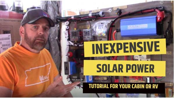 Inexpensive solar power off grid cabin or homestead diy system #solar #offgrid #homestead