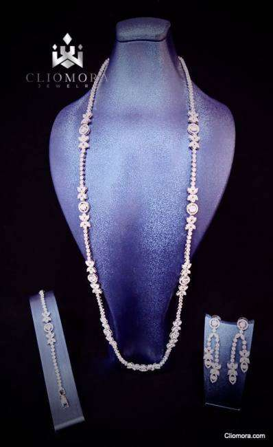 Incredible cliomora jewelry set cz cubic zirconia zks62