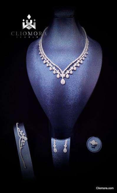 Outstanding cliomora jewelry set cz cubic zirconia zks60