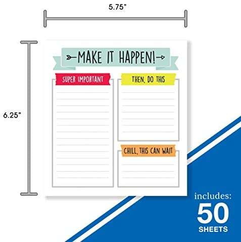 Carson dellosa aim high to do list notepad—5.75″ x 6.25″ paper stationery, daily checklist, goals, reminders, notes, motivational organizer (50 sheets)