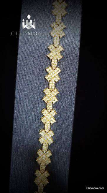 Lustrous bracelet striking cliomora cz cubic zirconia zkb24