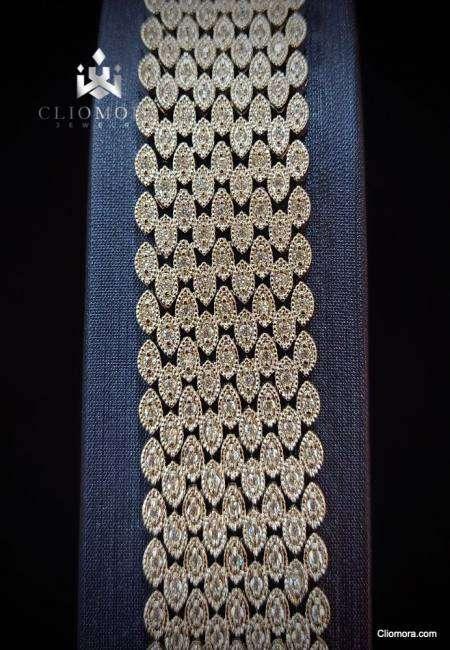 Classic bracelet brilliant cliomora cz cubic zirconia zkb13